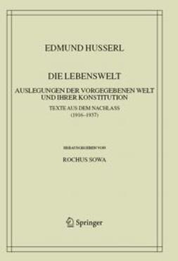 Sowa, Rochus - Die Lebenswelt, ebook