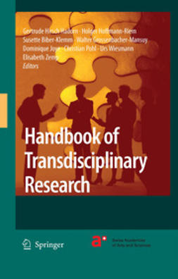 Biber-Klemm, Susette - Handbook of Transdisciplinary Research, ebook