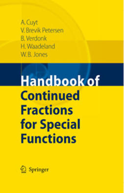 Cuyt, Annie - Handbook of Continued Fractions for Special Functions, e-kirja