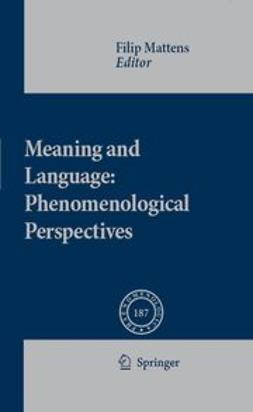 Mattens, Filip - Meaning and Language: Phenomenological Perspectives, ebook