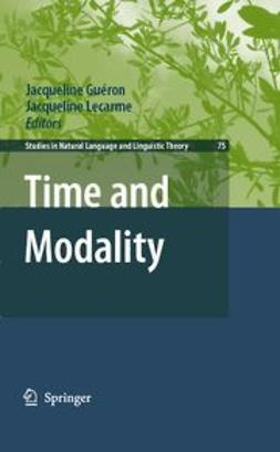 Guéron, Jacqueline - Time and Modality, e-bok