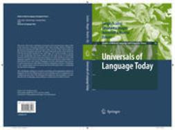 Bisetto, Antonietta - Universals of Language Today, e-bok