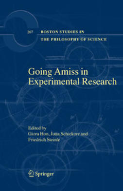 Hon, Giora - Going Amiss In Experimental Research, ebook
