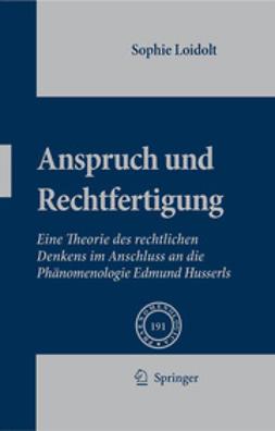 Loidolt, Sophie - Anspruch und Rechtfertigung, ebook