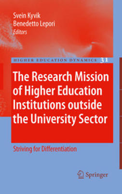 Kyvik, Svein - The Research Mission of Higher Education Institutions outside the University Sector, ebook