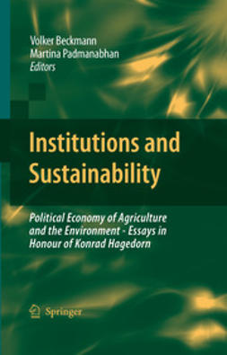 Beckmann, Volker - Institutions and Sustainability, e-kirja