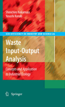 Kondo, Yasushi - Waste Input-Output Analysis, ebook