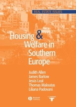 Allen, Judith - Housing and Welfare in Southern Europe, e-bok