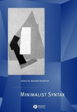 Hendrick, Randall - Minimalist Syntax, ebook