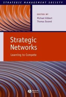 Gibbert, Michael - Strategic Networks: Learning to Compete, ebook