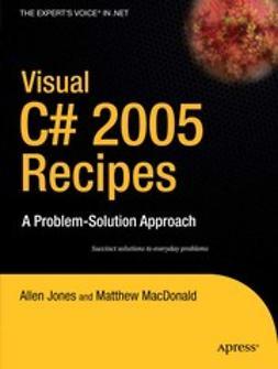 Jones, Allen - Visual C# 2005 Recipes, ebook