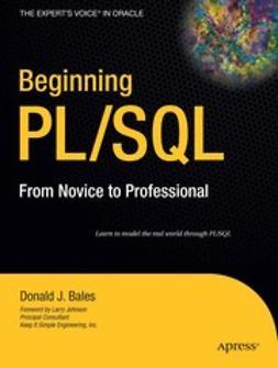 Bales, Donald J. - Beginning PL/SQL, e-bok