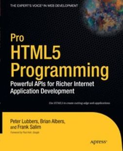 Lubbers, Peter - Pro HTML5 Programming, ebook