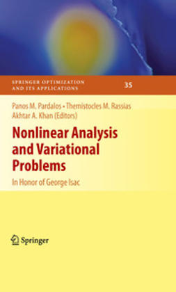 Khan, Akhtar A. - Nonlinear Analysis and Variational Problems, ebook