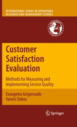 Grigoroudis, Evangelos - Customer Satisfaction Evaluation, ebook