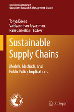 Boone, Tonya - Sustainable Supply Chains, ebook