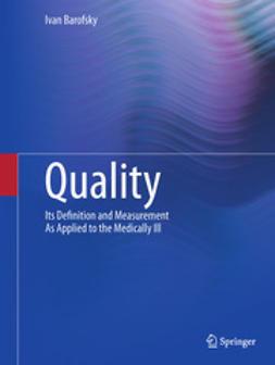 Barofsky, Ivan - Quality, ebook