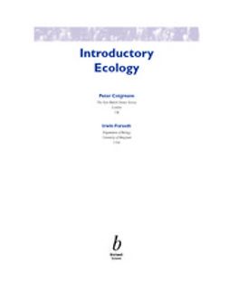 Cotgreave, Peter - Introductory Ecology, e-kirja