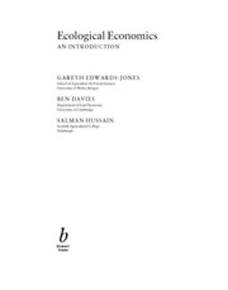 Edwards-Jones, Gareth - Ecological Economics: An Introduction, ebook