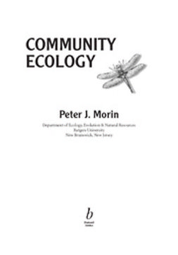Morin, Peter J. - Community Ecology, e-kirja