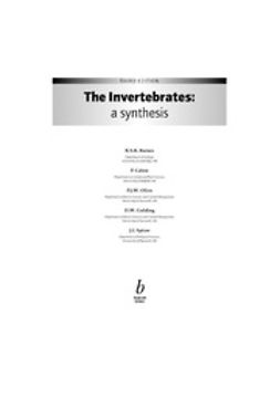 Barnes, R. S. K. - The Invertebrates: A Synthesis, e-kirja