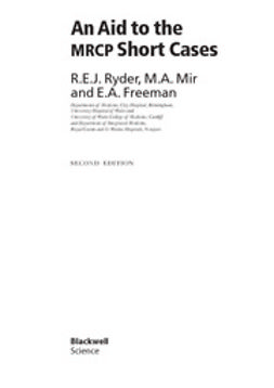 Ryder, Bob - An Aid to the MRCP Short Cases, ebook