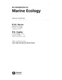 Barnes, R. S. K. - An Introduction to Marine Ecology, ebook
