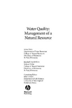 Perry, Jim - Water Quality: Management of a Natural Resource, ebook