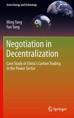 Yang, Ming - Negotiation in Decentralization, ebook