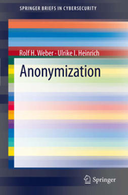 Weber, Rolf H. - Anonymization, ebook