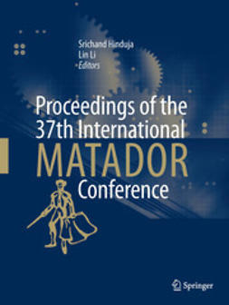 Hinduja, Srichand - Proceedings of the 37th International MATADOR Conference, e-bok