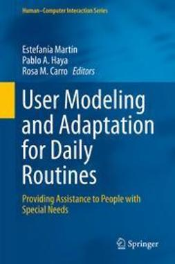 Martín, Estefanía - User Modeling and Adaptation for Daily Routines, ebook