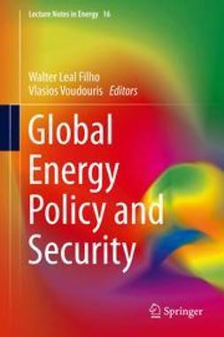 Filho, Walter Leal - Global Energy Policy and Security, e-kirja