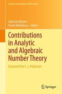 Blomer, Valentin - Contributions in Analytic and Algebraic Number Theory, ebook