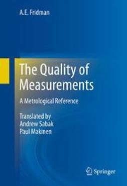 Fridman, A.E. - The Quality of Measurements, ebook