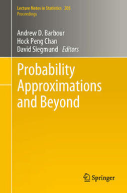 Barbour, Andrew - Probability Approximations and Beyond, e-bok