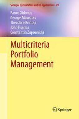 Xidonas, Panos - Multicriteria Portfolio Management, e-bok