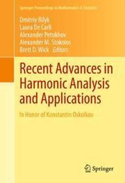 Bilyk, Dmitriy - Recent Advances in Harmonic Analysis and Applications, e-bok