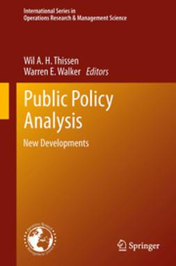Thissen, Wil A. H. - Public Policy Analysis, e-bok