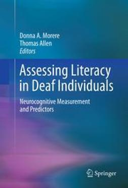 Morere, Donna - Assessing Literacy in Deaf Individuals, ebook