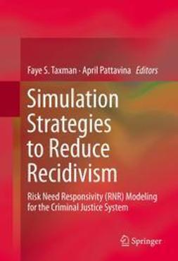 Taxman, Faye S. - Simulation Strategies to Reduce Recidivism, e-bok