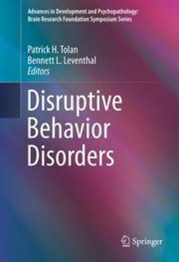 Tolan, Patrick H. - Disruptive Behavior Disorders, ebook