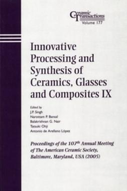 Singh, J. P. - Innovative Processing and Synthesis of Ceramics, Glasses and Composites IX: Proceedings of the 107th Annual Meeting of The American Ceramic Society, Baltimore, Maryland, USA 2005, Ceramic Transactions, ebook