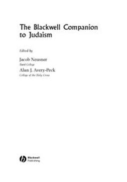 Avery-Peck, Alan - The Blackwell Companion to Judaism, ebook