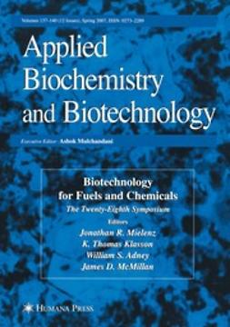 Mielenz, Jonathan R. - Applied Biochemistry and Biotecnology, ebook