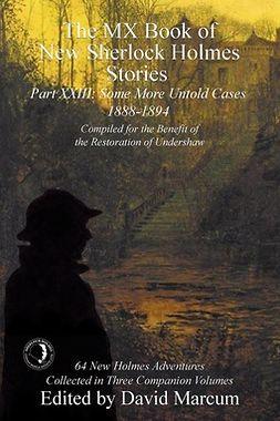 Marcum, David - The MX Book of New Sherlock Holmes Stories - Part XXIII, ebook