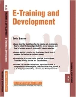 Barrow, Colin - E-Training and Development, e-bok