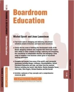 Lammiman, Jean - Boardroom Education: Training and Development 11.4, e-bok