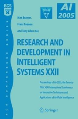 Bramer, Max - Research and Development in Intelligent Systems XXII, ebook