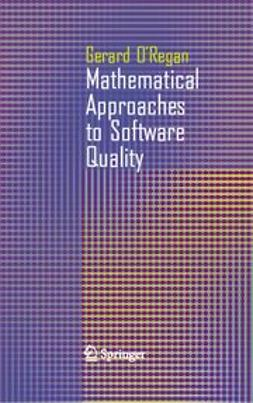 O'Regan, Gerard - Mathematical Approaches to Software Quality, e-bok